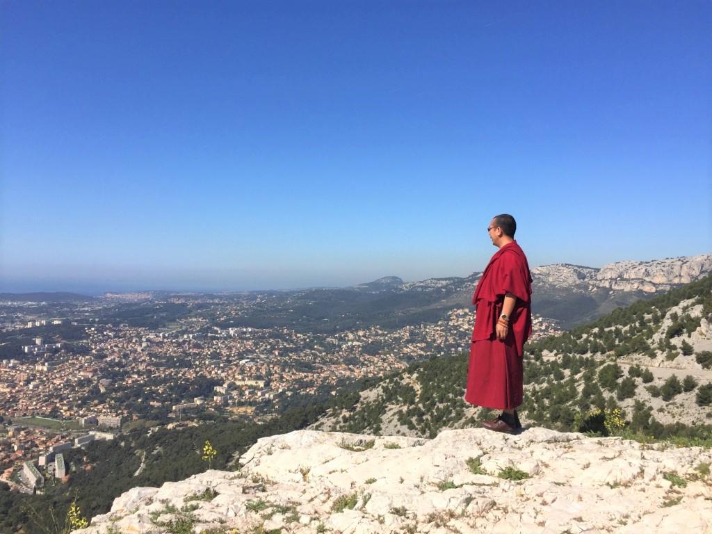 Lama Samten au Mont Faron