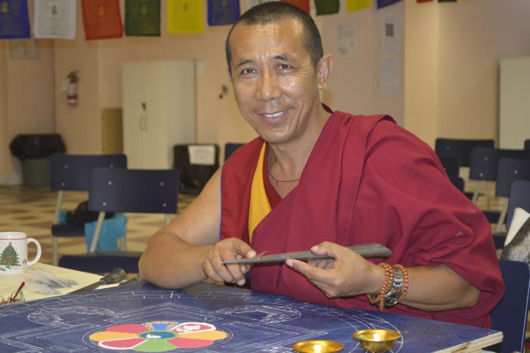 Lama Samten et Contruction du Mandala au Canada 2016